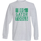 Long Sleeve Grey Shirt - Big Gator Tools